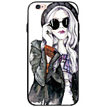 Transparent/Pattern Sexy Lady TPU&Acrylic Soft Case For Apple iPhone 6s Plus/6 Plus/iPhone 6s/6/iPhone SE/5s/5