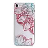 Painted Diagonal Flower Pattern  Transparent TPU Material Phone Case for  iPhone 7 7 Plus 6s 6 Plus SE 5s 5