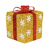 The New Christmas Gift Ornaments Christmas Gift Boxes Decorated Window Scene Snowflake Gift Packs