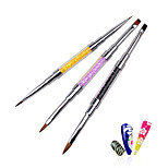 1pcs Professional Acrylic UV Gel Crystal Rhinestone Flat Paiting Drawing Lines Brush Pen DIY Salon Nail Tools