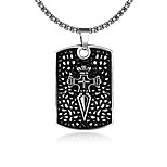 Fashion jewelry Chain Necklaces Maya Punk Stainless Steel necklace for men tag neckalce GMYN070