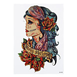1pc Cosplay Halloween Gift Temporary Women Men Body Art Skull Lettering Belle Scar Housewife Tattoo Sticker HB-288