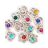 20pcs beadia couleurs assorties charme plastique acrylique coeur 22x23mm strass pendentif