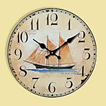 Moderne/Contemporain Autres Horloge murale,Rond Autres 30*30cm*3cm Intérieur Horloge