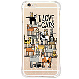 Shockproof Pattern Cartoon Cat TPU Soft Case Back Cover For Apple iPhone 6s Plus/6 Plus/iPhone 6s/6/iPhone SE/5s/5