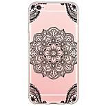 Black Mandala Pattern TPU Ultra-thin Translucent Soft Back Cover for Apple iPhone 6s Plus/6 Plus/ 6s/6/ SE/5s/5