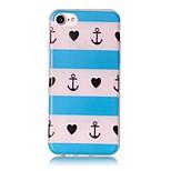 brillar en la franja oscura en relieve patrón material de la caja del teléfono de TPU para el iPhone 7 7 más 6s 6 Plus SE 5s 5
