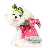 Sweety Bownot Dot Design Lollipops Pattern Fleece Coat Dogs Clothing for Pets Dogs(Assorted Sizes and Colours)