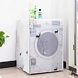 Washing Machine Printing Transparent Dust Cover Waterproof Sunscreen Drape Household Washing Machine Drum Cover Cap