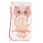 Owl Pattern Perspective Shiny Glare Material PU Leather Card Holder for  iPhone 7 7 Plus 6s 6 Plus SE 5s 5