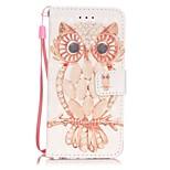 Cuerpo Completo Soporte de Tarjeta / Diseño Búho Cuero Sintético Duro Cubierta del caso para AppleiPhone 7 Plus / iPhone 7 / iPhone 6s