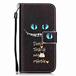 Green-Eyed Cat Pattern Material PU Card Holder Leather for  iPhone 7 7 Plus 6s 6 Plus SE 5s 5 5C 4S