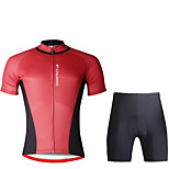 PaladinSport Men Cycyling Jersey  Shorts Suit DT703 Red And Black Stitching