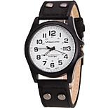 Men's Sport Cool Quartz Casual Watch Simple Calender Leather Belt Round Alloy Dial Watch Unique Watch Classic Watch