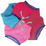 Holdhoney Pet Cotton Tie T-Shirt Blue / Light Pink / Rose / Dark Red  Dog Clothes (#LT15050276)
