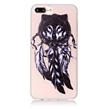 Para Funda iPhone 7 / Funda iPhone 7 Plus / Funda iPhone 6 Fosforescente / Diseños Funda Cubierta Trasera Funda Pluma Suave TPU Apple
