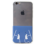 Cartoon Elephant Pattern High Permeability Transparent TPU Material Phone Case For 6s 6Plus SE 5S 5