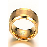 Ring Others Fashion Daily Casual Jewelry Tungsten Steel Men Band Rings Statement Rings 1pc,7 8 9 10 11 12 Gold