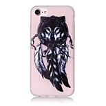 Glow in the Dark Wolf Pattern Embossed TPU Material Phone Case for  iPhone 7 7 Plus 6s 6 Plus SE 5s 5