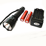 Suits CREE XPE 500 LM White Light Flashlight Lighting (2x18650.1Xcharger)