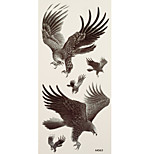 1pc Halloween Horror Waterproof Tattoo Eagles Big Temporary Tattoo Sticker 18.5*9cm