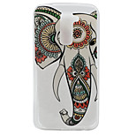 Elephant Pattern TPU Material Phone Case for LG K10