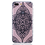 Painted Corners Lace Pattern Slip Transparent TPU Material Phone Case for  iPhone 7 7 Plus 6s 6 Plus SE 5s 5 5C