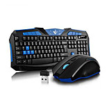2.4GHz Gaming Wireless Keyboard Mouse 2 Pieces a Set