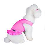 Gatti / Cani Vestiti Rosa / Viola / Arancione / Blu chiaro Abbigliamento per cani Estate Tinta unita Di tendenza Lovoyager