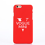 Back Cover Pattern Word Phrase PC Hard Case Cover For Apple iPhone 6 6 Plus iPhone 5