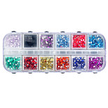 12 Colors Nail Shining Rhinestones Glitter Acrylic Nail Art Decoration