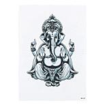 1pc Beauty Makeup Temporary Women Men Body Art Tattoo Sticker Thailand Elephant Gold Ganesha Pattern Tattoo HB-247