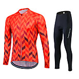 Spring Autumn Long Sleeve Bike Shirt Red Cycling Jersey Breathable Bicycle Sets Sportswear Clothes Ropa Ciclismo