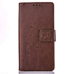 Dandelion Embossed PU Leather Material Leather  for LG K4 K8 K10 K7 G5