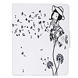 Dandelion Painted PU Leather Case Material Flat Bracket for  iPad Air iPad Air2
