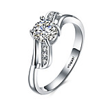 Band Rings Platinum Sterling Silver Zircon 18K gold Fashion Vintage Personalized Hypoallergenic Silver JewelryWedding Party Daily Casual