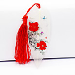 Chinese Style Painting Red Peony Vein Bookmark Bookmark Butterflies Beautiful Fresh And Elegant Peony Flower