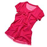 Running T-shirt / Sweatshirt Women's Short Sleeve Breathable / Quick Dry / Reflective Strips / Sweat-wicking /