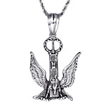 Kalen Personalised Necklace 316L Stainless Steel Men's Eagle With Wings Pendant Long Chain Necklace Cool Jewelry Gift