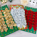 12pcs lot Christmas Tree Decorations Bow Christmas Decorations for Home