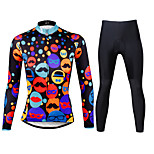 PALADIN® Cycling Jersey with Tights Women's Long Sleeve BikeBreathable / Quick Dry / Ultraviolet Resistant / Compression / Lightweight