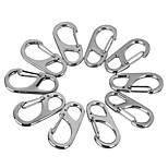 FURA Zinc Alloy Carabiner Keychain Buckle - Silver / Black(10 PCS)