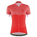 Women's Cycling Professional Shirt Polka Dots Bicycle Breathable Jersey Quick Dry Bike Outdoor sports Sweatshirt