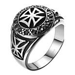 Vintage Cool Stainless Steel Zircon Cross Band Ring Men Jewelry Chrome Hearts Mens Rings