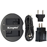 KingMa Dual USB Charger for Canon Battery and Canon EOS 550D EOS 600D EOS 650D EOS 700D with USB Adapter Plug Power