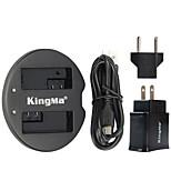Kingma chargeur double USB pour batterie canon et canon eos 550d eos 600d eos 650d eos 700d avec une puissance usb plug adaptateur