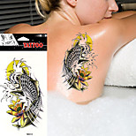 5Pcs Body Art Beauty Makeup Japanese Flower Water Carp Waterproof Temporary Tattoo Stickers