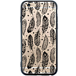 Transparent/Pattern Feathers TPU&Acrylic Soft Case For Apple iPhone 6s Plus/6 Plus/iPhone 6s/6/iPhone SE/5s/5