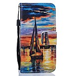 Scenery PU Leather Wallet for Huawei P8Lite P9 P9Lite