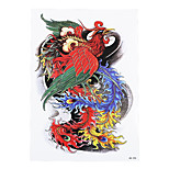 1pc Oriental Traditional Women Men Temporary Body Arm Sleeve Art Phoenix Tattoo Sticker Design Beauty Makeup HB-298